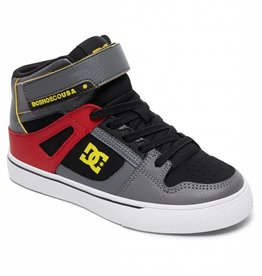 DC Shoe Co. DC Kids Spartan Hi EV - Grey/Black/Red (XSKR)
