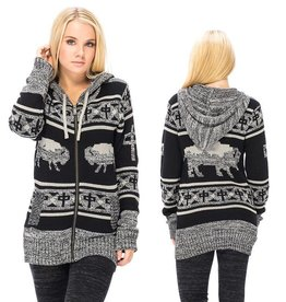 RDS RDS WOMENS ZIP SWEATER BUFFALO