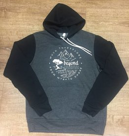 Beyond The Usual BTU Unisex Hoodie Compass - Grey/Black