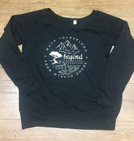 Beyond The Usual BTU Ladie's Crew Sweater Compass - Black