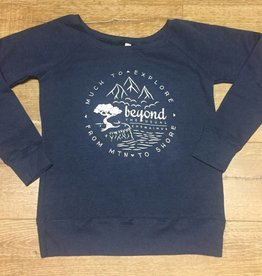 Beyond The Usual BTU Ladie's Crew Sweater Compass - Navy