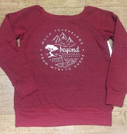 Beyond The Usual BTU Ladie's Crew Sweater Compass - Maroon