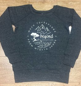 Beyond The Usual BTU Ladie's Crew Sweater Compass - Char Grey