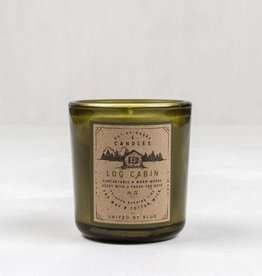 United By Blue OUT-OF-DOORS 8.5oz CANDLE LOG CABIN