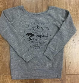 Beyond The Usual BTU Ladie's Crew Sweater Compass - Deep Grey