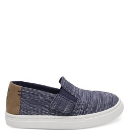 Toms Luca Navy Striped Chambray
