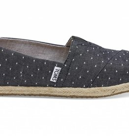Toms Women's Black Dot Chambray Rope
