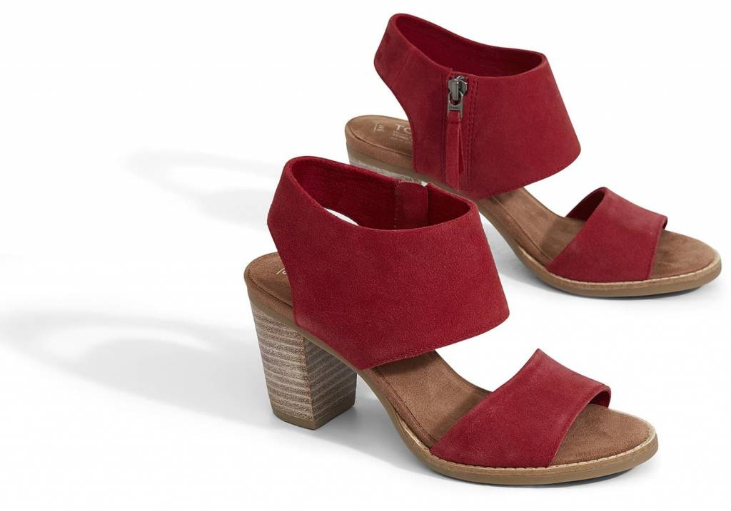 e9407569fd7c Red Suede Women s Majorca Cutout Sandals - Beyond The Usual