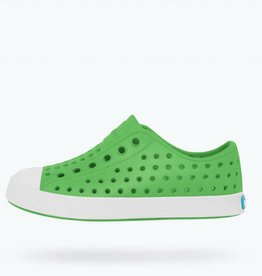 Native Shoes Jefferson Kids - Grasshopper Green/Shell White