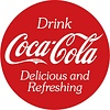 Ande Rooney Coke® Button Tin Sign
