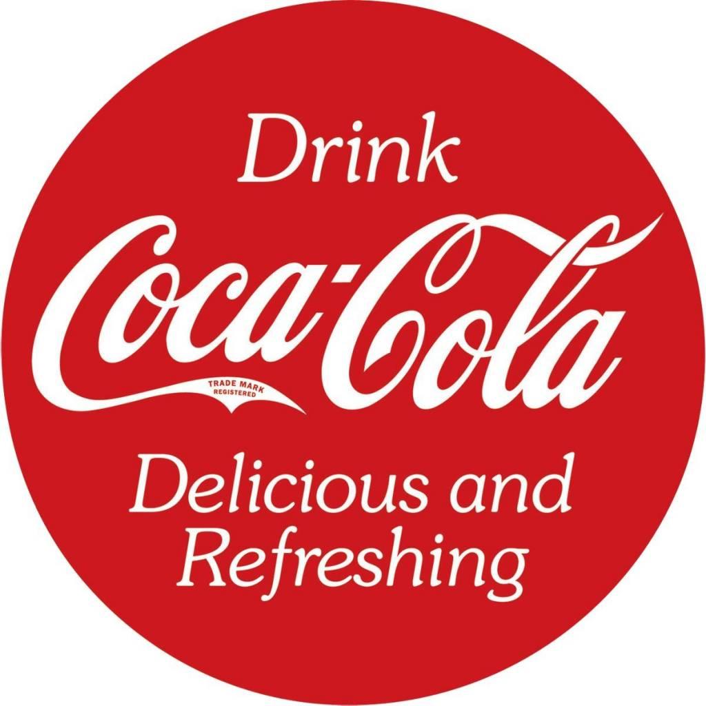 Coke® Button Tin Sign