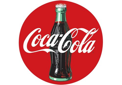 Ande Rooney Coke® Disc Tin Sign