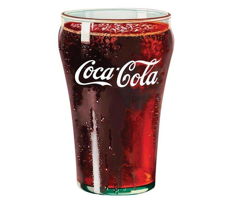 Coke® Glass Tin Sign