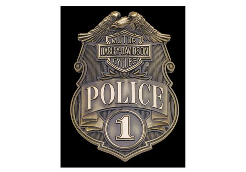 Ande Rooney Harley Davidson Police Shield Sign