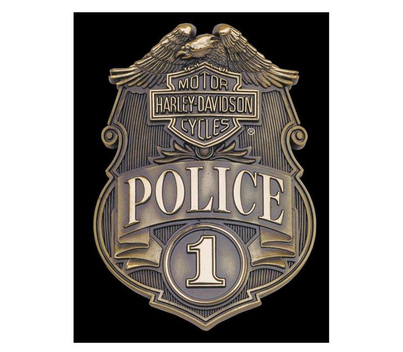 Harley Davidson Police Shield Sign