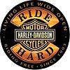 Ande Rooney Harley Davidson Ride Hard Embossed Sign
