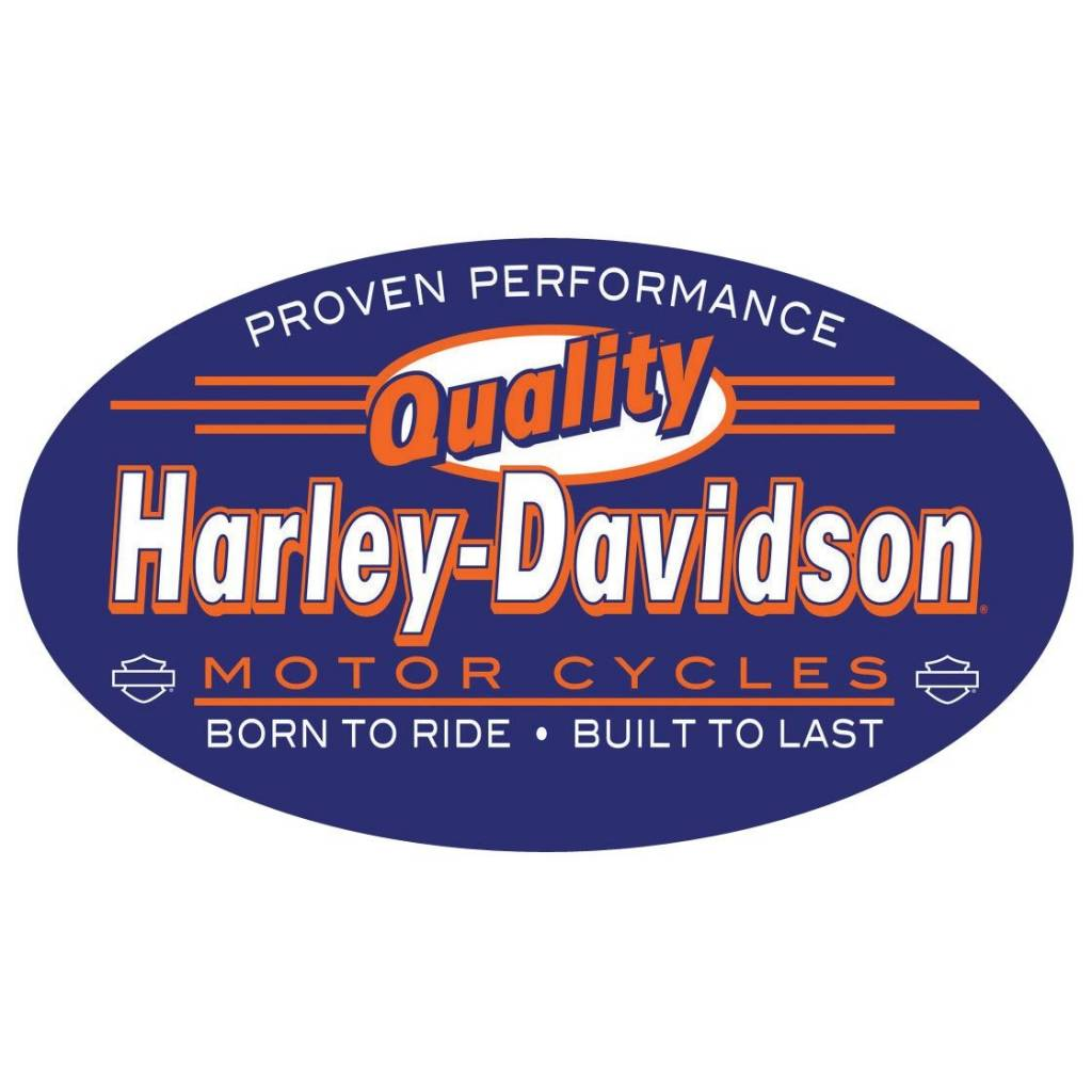 Harley Davidson Quality Embossed Tin Sign