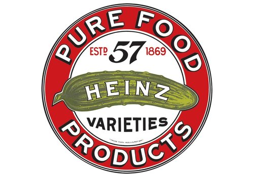 Ande Rooney Heinz Round Embossed Tin Sign