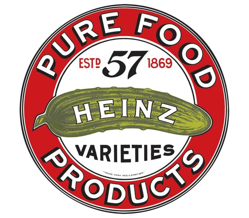 Heinz Round Embossed Tin Sign