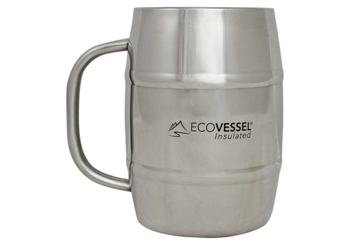Double Barrel Insulated Mug - 34 Oz - Stainless Steel