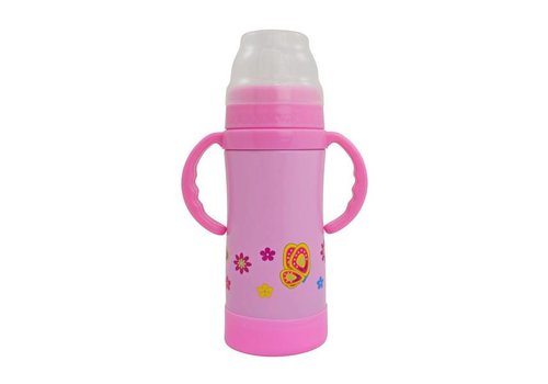 Insulated Stainless Steel Sippy Cup - 10 Oz Pink
