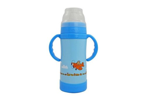 Insulated Stainless Steel Sippy Cup - 10 Oz Blue