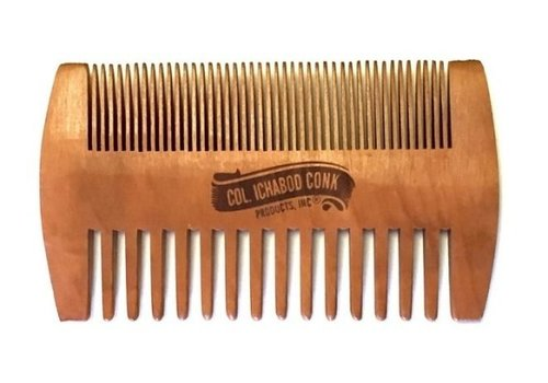 Colonel Ichabod Conk Wooden Beard Comb Fine and Coarse