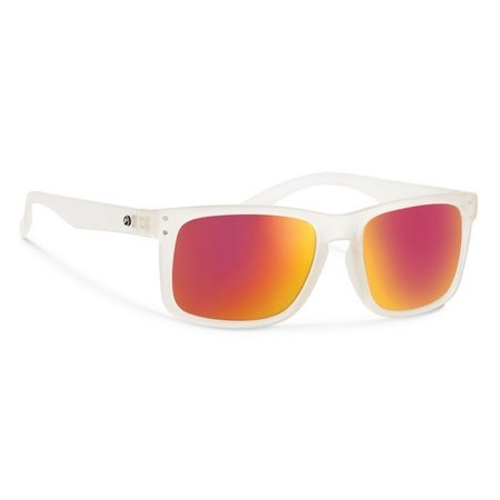 CLYDE Matte Clear With Red Mirror Lens