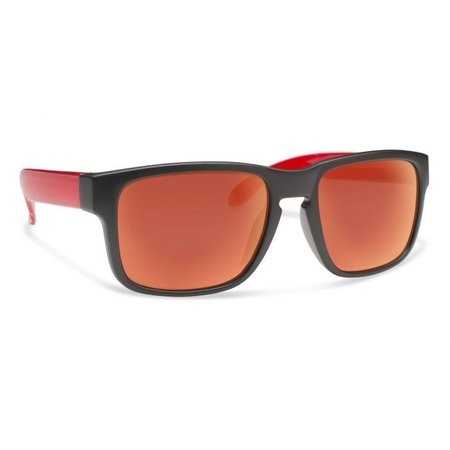 JUGGLE Matte Black With Red Mirror Lens