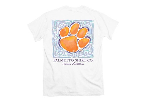 Clemson Watercolor Paw T-shirt