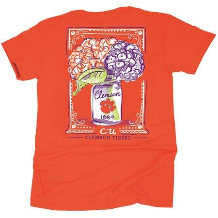 Clemson Mason Jar Flowers T-shirt