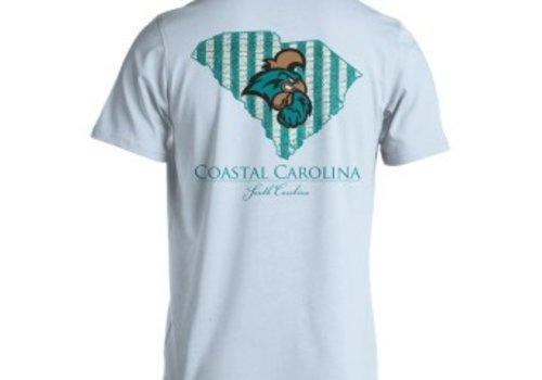 Live Oak Brand Coastal Carolina Seersucker Striped T-shirt