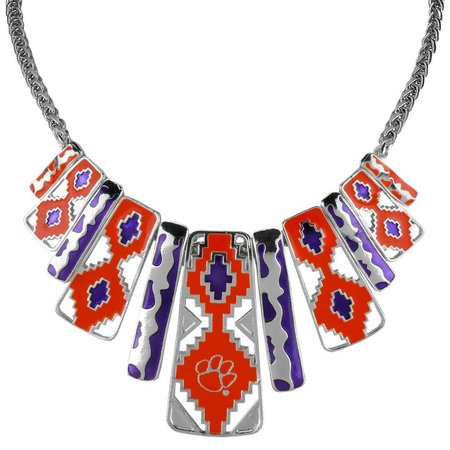 Clemson Tiger Aztec Necklace