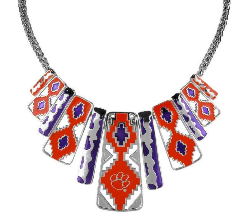 Clemson Tiger Aztec Necklace