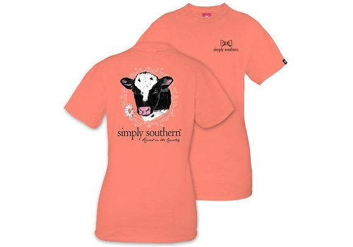 Simply Southern Simply Southern Rasied in Country Cow T-shirt