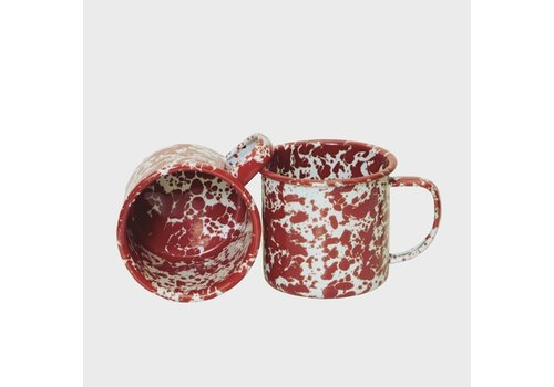 Crow Canyon Enamel Mug Red Marble