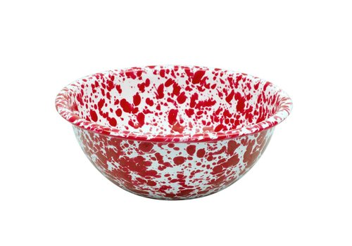 Crow Canyon Enamel Cereal Bowl Red Marble