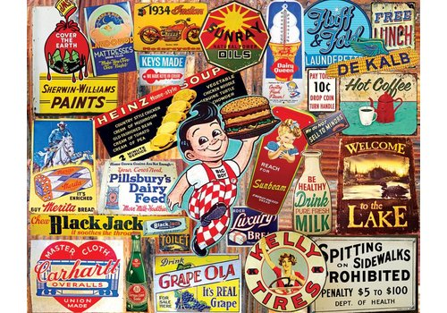 Vintage Signs 1000 PC JIGSAW PUZZLE
