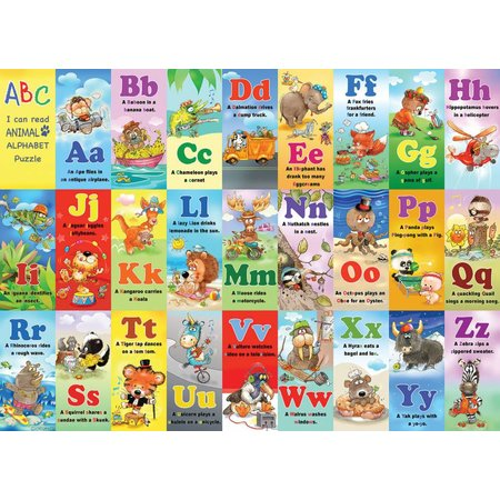Animal Alphabet 24 PC KIDS JIGSAW PUZZLE
