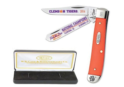Case Cutlery Case XX Clemson Championship Orange Mini Trapper