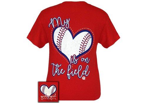 Girlie Girl Girlie Girl | My Heart Baseball Red Short Sleeve