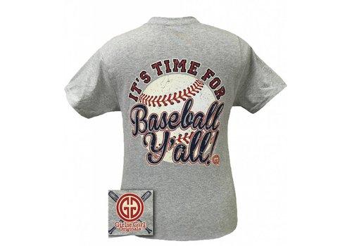 Girlie Girl Girlie Girl | It's Time For Baseball Sport Grey
