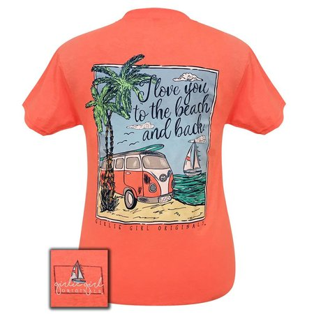 Girlie Girl | Beach and Back Retro Heather Coral S/S