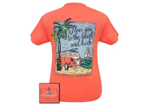 Girlie Girl Girlie Girl | Beach and Back Retro Heather Coral S/S