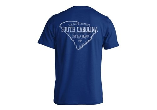 Live Oak Brand SC State Outline China Blue