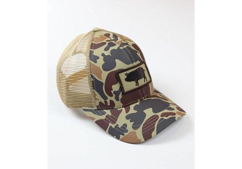 Southern Hooker Southern Hooker Camo Pig Trucker Hat