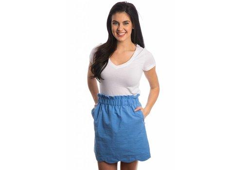 Lauren James Scallop Solid Skirt