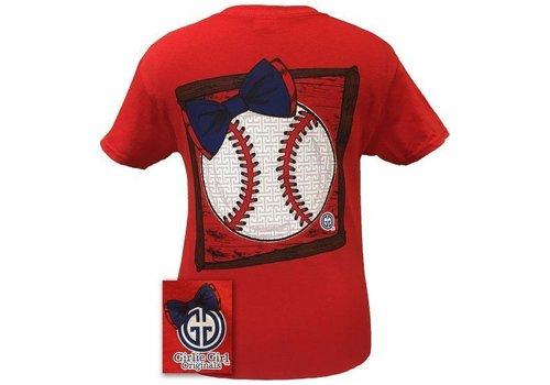 Girlie Girl Girlie Girl Preppy Baseball Short Sleeve Red