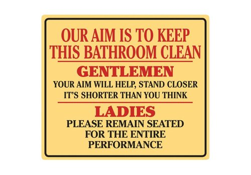 Ande Rooney Keep This Bathroom Clean Tin Sign