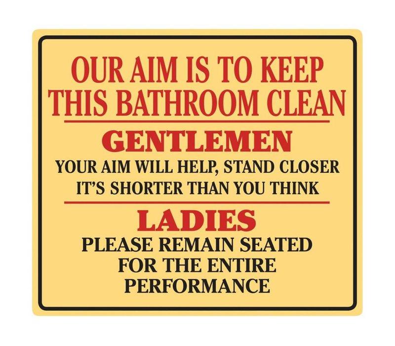 Keep This Bathroom Clean Tin Sign